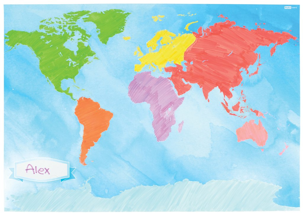 Cartina Geografica Del Mondo Da Colorare.Mappa Del Mondo Da Colorare Montessori 4 You Store Online