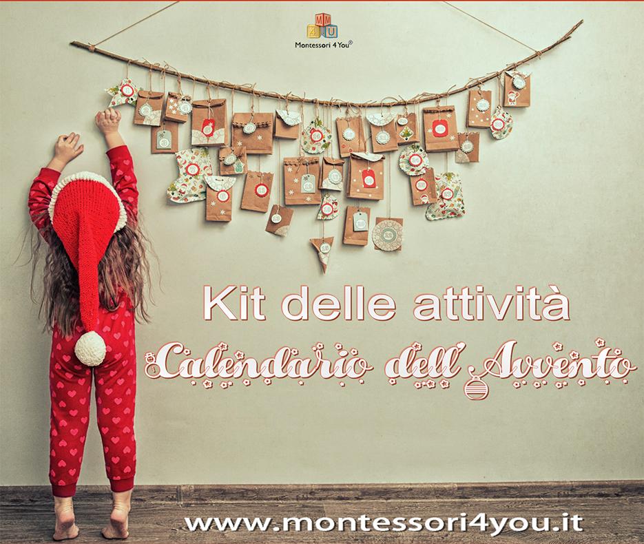 Calendario Montessori.Kit Attivita Calendario Dell Avvento
