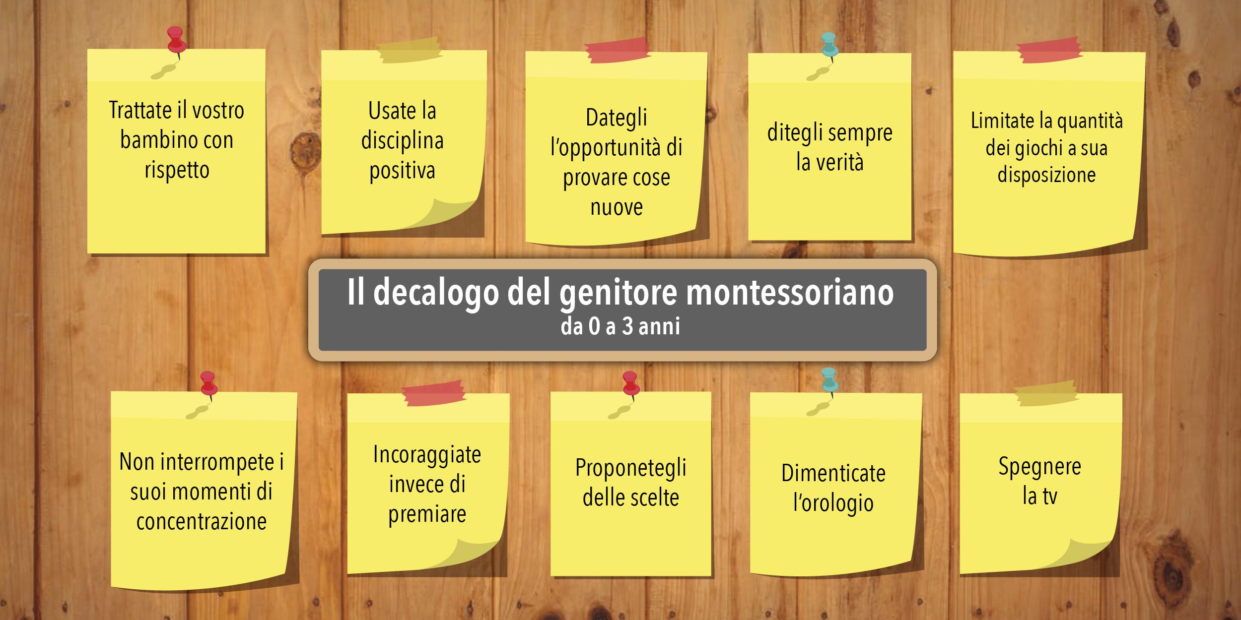 4c5844ab21 Il decalogo del genitore Montessori da 0 a 3 anni