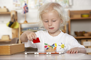 lezione in 3 tempi e spolette dei colori