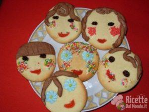 Biscottini con le facce