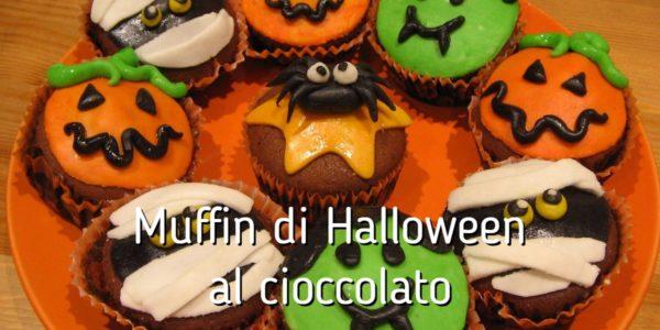 Muffin di halloween al cioccolato for Cucinare x halloween