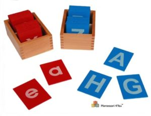 lettere smerigliate montessori
